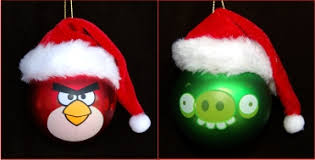 angry bird teasing pig glass ornament 650 glass ornaments