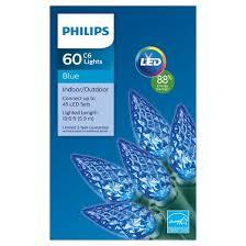 philips 60ct led c6 faceted string lights blue target