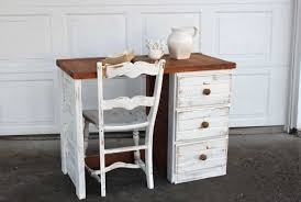 Shabby Chic Furniture Paint Colors by Shabby Chic Desks With Drawers With White Paint Color Home