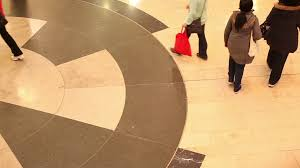 crowd of walking in shopping mall before looking