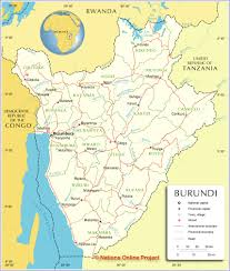 Africa On The Map by Political Map Of Burundi Nations Online Project