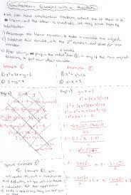 simultaneous with a quadratic equation