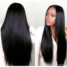 black hair weave part in the middle in stock middle part wig beauty simulation human hair wig long