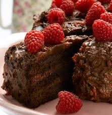 chocolate cake with raspberry ganache divine chocolate