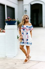 spring cleaning your closet easy off the shoulder dress