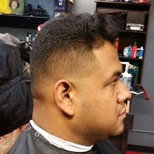 medium skin fade with thick sides haircut by mario call to book
