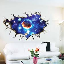 the new 3d galactic space creative wall stickers living room see larger image