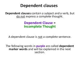 english parts of a sentence independent u0026 dependent clauses