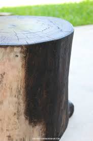 Tree Stump Side Table Diy Wooden Stump Side Table Oh Everything Handmade
