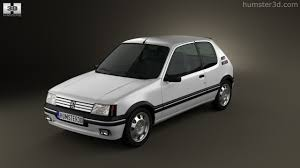 peugeot gti 1990 360 view of peugeot 205 3 door gti 1983 1998 3d model hum3d store