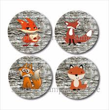 online get cheap coaster gift set aliexpress com alibaba group set of 4 cup cute fox woodland coasters wood mdf coaster rustic home decor wedding favor