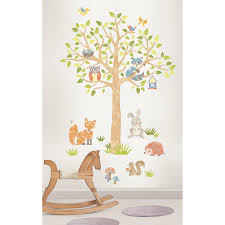 Woodland Home Decor Wallpopskids Woodland Tree Kids Wall Sticker Kit Reviews Loversiq