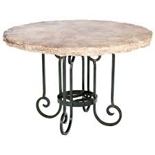 curled leg iron dining table with 60