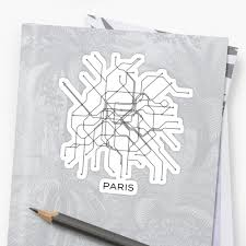 Paris Subway Paris Subway Map Black U0026 White Lines Vintage Map Retro Print Paris