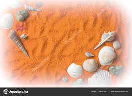 colored sand beautiful background of colored sand shells stones and place f