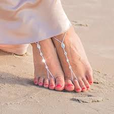 barefoot sandals wedding simple barefoot sandals with swarovski crystals for