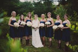 navy bridesmaids cowboy boots elizabeth anne designs the