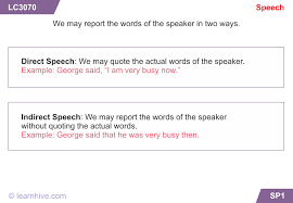 learnhive cbse grade 5 english reported speech lessons