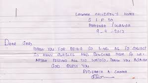 thanksgiving letter to clients letters of thanks from the ukwama children u0027s orphanage ruby fair
