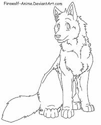 wolf sit lineart by firewolf anime on deviantart