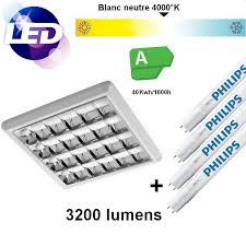 plafonnier pour bureau kit buro led plafonnier saillie pour 4 led de 600 mm à