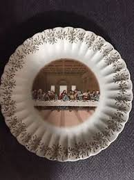 lord s supper plates vintage supper 1st edition 10 ceramic plate sanders mfg