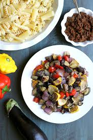 Roasted Vegetables Recipe by Pasta With Roasted Vegetables And Sun Dried Tomato Pesto Two Of