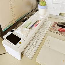 Plastic Desk Organizer Etechmart The Keyboard Wood Plastic Desktop Organizer For