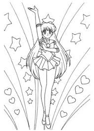 sailor mercury lineart carteraug21 anime u0026 shojo coloring