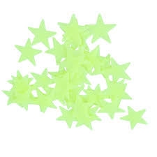 100pcs lot glow wall stickers decal baby kids bedroom home decor 100pcs lot glow wall stickers decal baby kids bedroom home decor color stars luminous fluorescent 4colors in wall stickers from home garden on