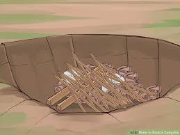 How To Lite A Fire Pit - 6 ways to build a campfire wikihow