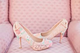 wedding shoes pink pretty in pink wedding inspiration