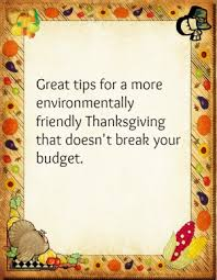 make thanksgiving more eco friendly and save money eco