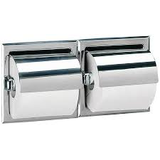 bobrick b 699 recessed double toilet tissue dispenser with