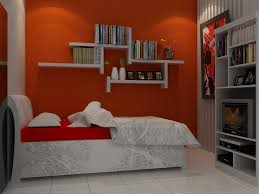 bedroom cheerful bedroom idea with cozy white and orange blanket