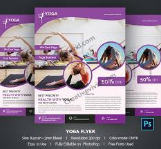 29 yoga flyer templates free psd ai eps vector format download