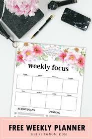 weekly planner template 15 free brilliant designs