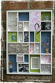 Upcycle Crafts - upcycled crafts for earth day shadow box upcycle and box