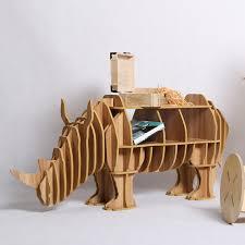 bureau de douane europa hout ambachtelijke rhinoceros bureau rhinoceros salontafel houten