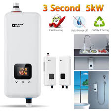 chauffe eau de cuisine 220v 5500w tankless electrique chauffe eau instantané chaudière