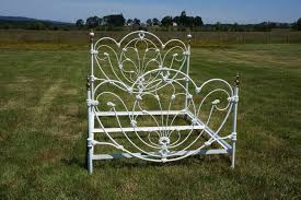 Antique White Metal Bed Frame Bed Frames Metal Single Steel Antique Wrought Iron Frame