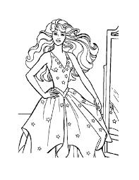 barbie princess free coloring pages braiding hair mermaid