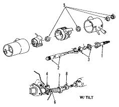 1986 dodge ram parts exploded view for the 1986 dodge ramcharger tilt steering column