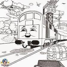 trains sodor island thomas friends coloring