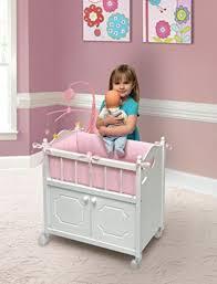 Child Crib Bed Baby Doll Crib Bed 18 Inch Dolls Nursery Furniture Mattress Toys
