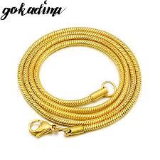 aliexpress buy gokadima 2017 new arrivals jewellery aliexpress buy gokadima snake chain 51cm 3mm fashion for men