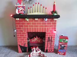 cardboard fireplace decoration with chimney home fireplaces