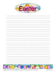 Printable Lined Paper Easter Printable Lined Writing Paper
