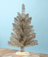 bethany lowe tabletop platinum tinsel tree lo2786