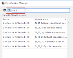 classification manager help center archicad bimx bim server